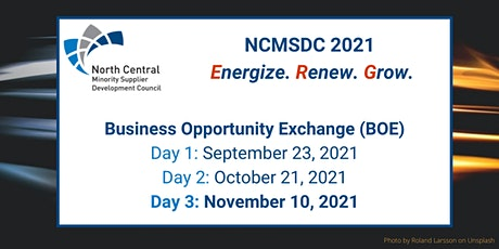 Day 3: NCMSDC 2021 Business Opportunity Exchange (BOE) Registration tickets