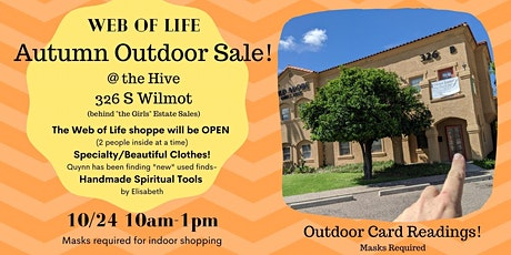 Web of Life Autumn Outdoor Sale in Tucson tickets