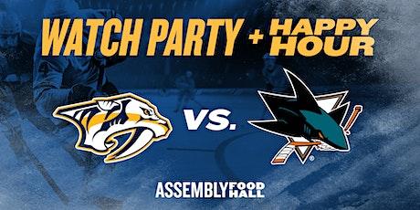 Predators vs. San Jose Sharks | Watch Party & Happy Hour tickets