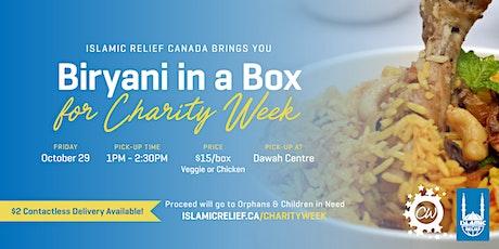 Biryani in a Box for Charity Week | Saskatoon tickets