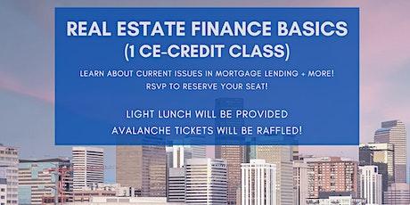 1 CE Credit: Real Estate Finance Basics tickets