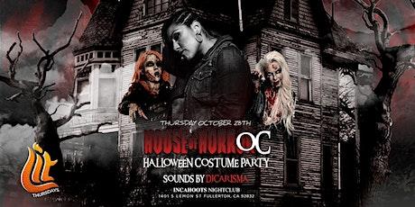 HOUSE OF HORRORS COSTUME PARTY @ INCAHOOTS NIGHTCLUB 18+ / LIT THURSDAYS OC tickets