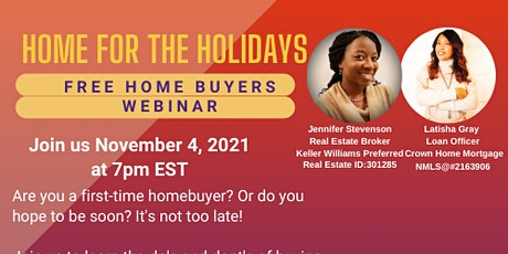 Home Buyers Webinar - Home For the Holidays tickets