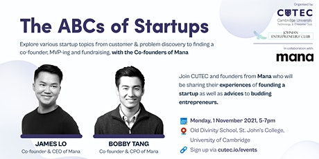 The ABCs of Startups tickets