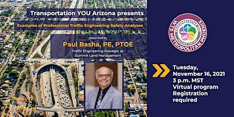 Transportation YOU Arizona Presents Paula Basha tickets