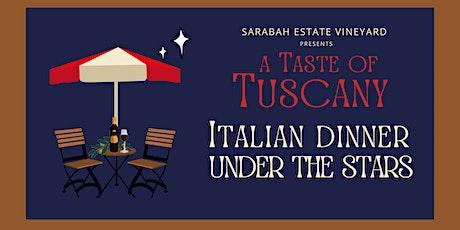 Italian Dinner Under the Stars tickets