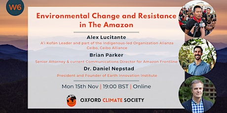 Environmental Change and Resilience in The Amazon tickets