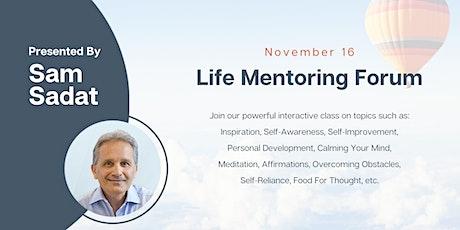 Sam's Life Mentoring Forum tickets