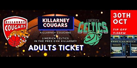 Presidents Cup Killarney Cougars v Limerick Celtics.  Sponsor The Laurels tickets
