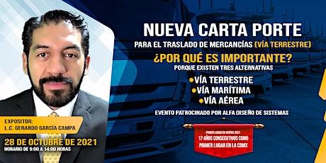 NUEVA CARTA PORTE PARA EL TRASLADO DE MERCANCÍAS (VÍA TERRESTRE) entradas