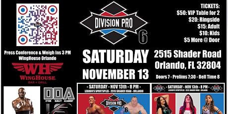 Division Pro 6 tickets
