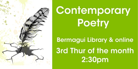Contemporary Poetry @ Bermagui Library, or online via Zoom tickets