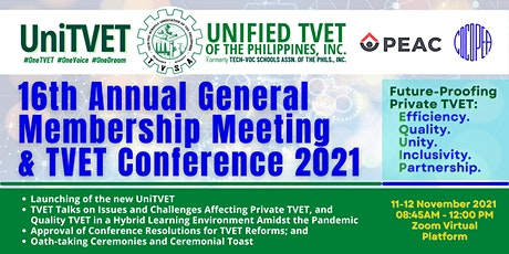 UniTVET (TVSA) 16th General Membership Meeting and TVET Conference 2021 tickets