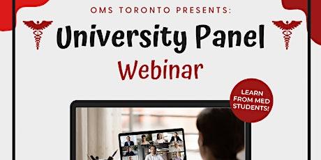 Operation Med School Toronto University Panel tickets