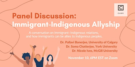 Discussing Immigrant-Indigenous Allyship tickets