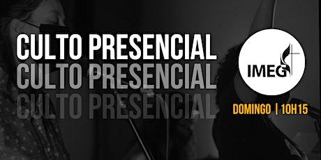 IMEG | Culto Presencial - 24/10 ingressos