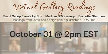Live Virtual Small Group Gallery Readings (Message Guaranteed!) tickets