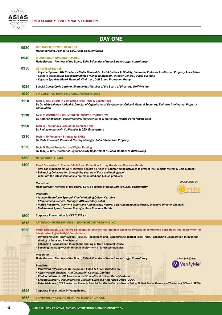 EMEA Security Conference & Exhibition   Anti-Counterfeit & Brand Protection image