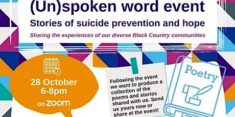 (Un)spoken word event: stories of suicide prevention and hope tickets