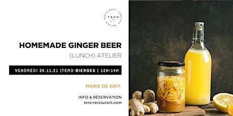 Lunch atelier | homemade ginger beer billets