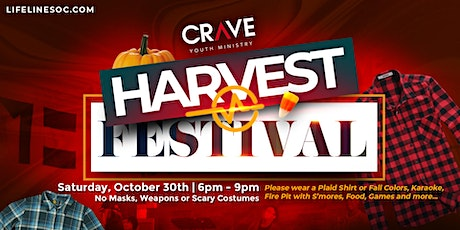 Harvest Festival - CRAVE Youth Ministry tickets