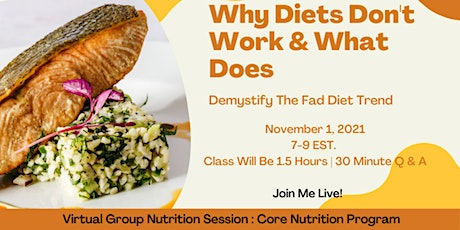 Why Diets Don't Work & What Does tickets