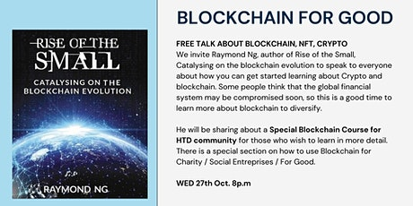 Blockchain for Good. tickets