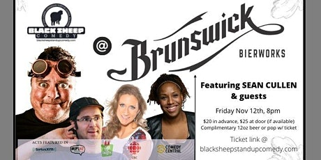 Black Sheep Comedy @ Brunswick Bierworks Featuring SEAN CULLEN tickets