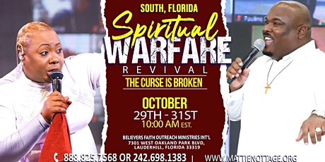 FREE EVENT!!!  REGISTER NOW..FOR THE SPIRITUAL WARFARE & DELIVERANCE tickets