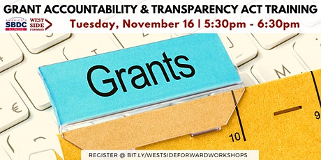 Grant Accountability Transparency Act Training tickets
