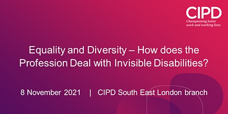 Equality and Diversity – How does the Profession Deal with Disability? tickets