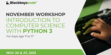 Black Boys Code Brampton - Introduction to Computer Science with Python 3 tickets