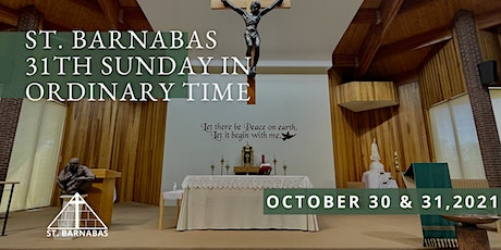 31st Sunday in Ordinary Time Sunday Mass (Last Names D-J) tickets