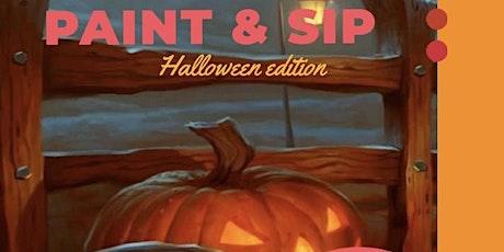 Paint & Sip Halloween editie tickets
