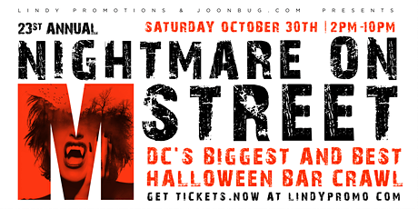 Gazuza Lounge Nightmare on M Street Washington DC Halloween Bar Crawl 2021 tickets