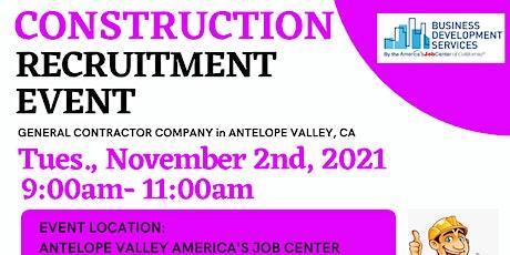 Construction Recruitment Event tickets