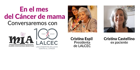 Mes del Cáncer de mama: entrevista a Cristina Espil y Cristina Castellino entradas