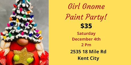 Girl Christmas Gnome Paint Party tickets