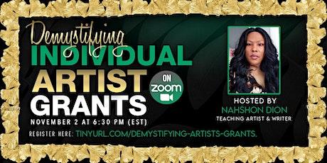 Demystifying Individual Artist Grants tickets