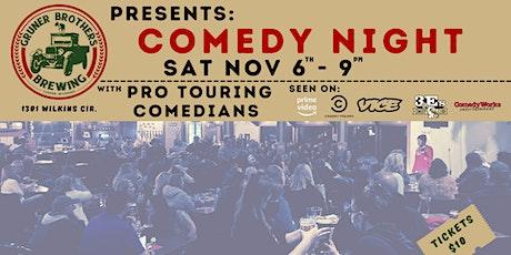 Comedy Night at Gruner Bros Brewing tickets
