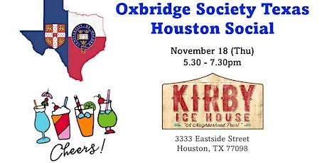 Oxbridge Society Texas November Houston Social tickets