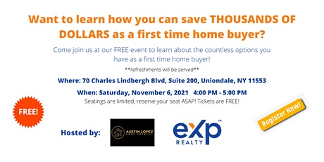 First Time Home Buyer Seminar By eXp Realty And CLIFFCO Mortgage Bankers tickets