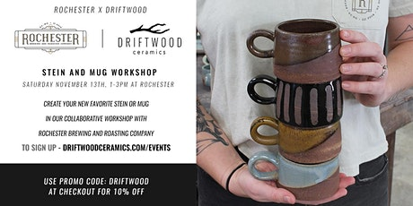 Driftwood Ceramics  + Rochester  Mug Workshop tickets