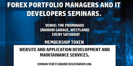 Forex Portfolio Managers and IT Developers Seminars tickets