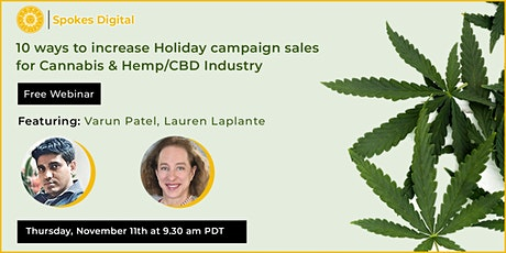 10 ways to increase Holiday campaign sales for Cannabis & Hemp/CBD Industry tickets