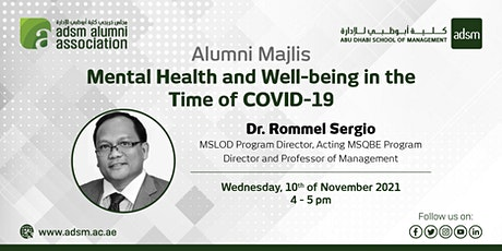 ADSM Alumni Majlis: Mental Health and Well-being in the Time of COVID-19 tickets