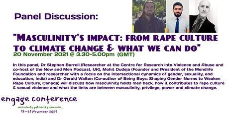 Masculinity's impact: From rape culture to climate change & what we can do tickets