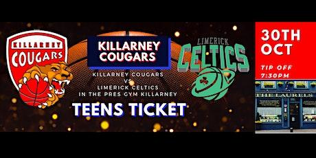 Teen's (Under 16)Presidents Cup Killarney Cougars v Limerick Celtics tickets