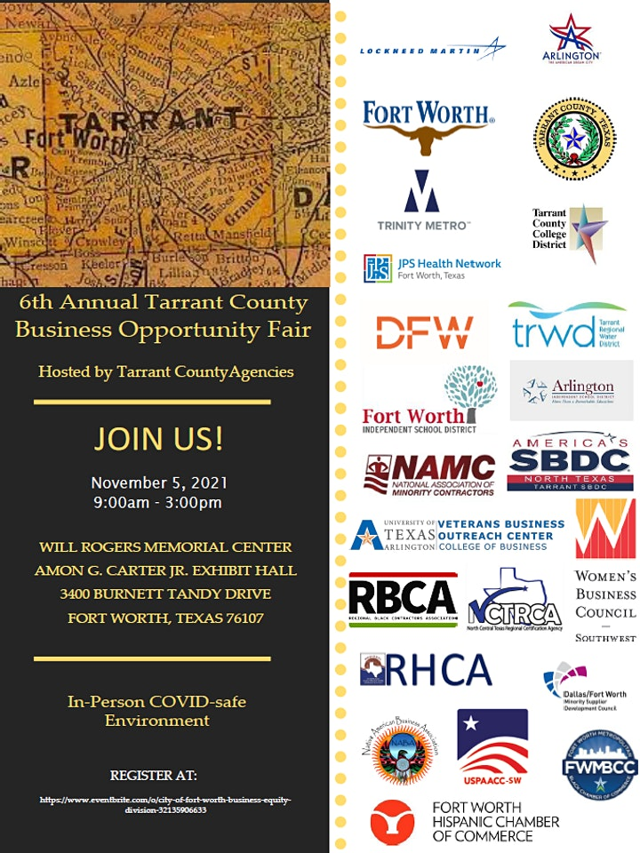 6TH ANNUAL TARRANT COUNTY  BUSINESS OPPORTUNITY FAIR image