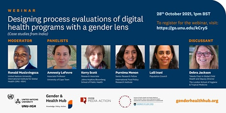 Designing process evaluations with a gender lens  (Case studies from India) tickets